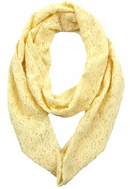 SCFH8483 Laced Infinity Scarf Ivory